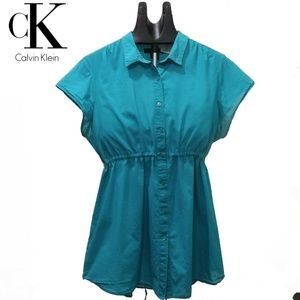 C K Womens Shirt Tee T-shirt Blue Blouse Siz Large